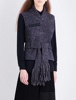 Craig Green Sleeveless ribbed fisherman-knit jumper