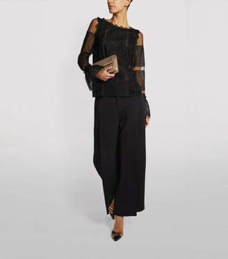 Amanda Wakeley Silk Lace Top