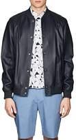 Theory Men's Hubert Leather Varsity Jacket