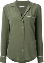 Equipment piped trimmed shirt - women - Silk - M