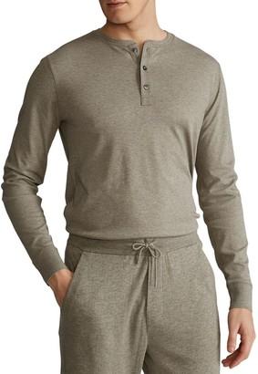 Polo Ralph Lauren Long-Sleeve Cotton Henley T-Shirt