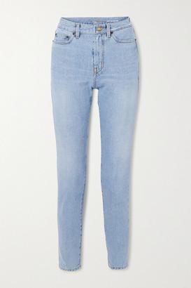Saint Laurent High-rise Straight-leg Jeans - Blue