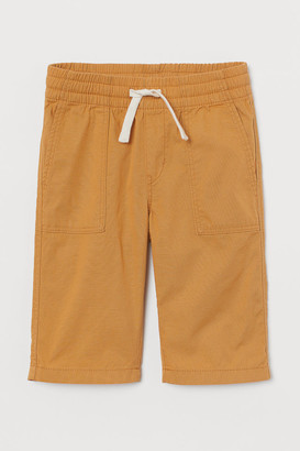 H&M Cotton Clamdiggers - Yellow