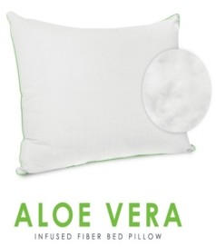 Sensorpedic Wellness Collection Fiber Pillow with Aloe Vera Infused Fabric Cover