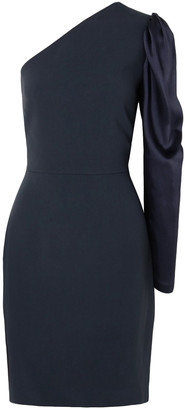 Stella McCartney One-shoulder Satin And Cady Mini Dress