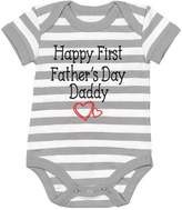 TeeStars - Happy First Father's Day Daddy Gift for New Dads Cute Baby Bodysuit 6M