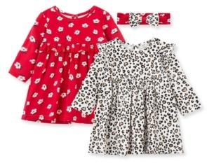 Little Me Baby Girls Leopard Knit Dress Set