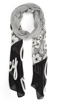 Juicy Couture Herringbone Floral Scarf
