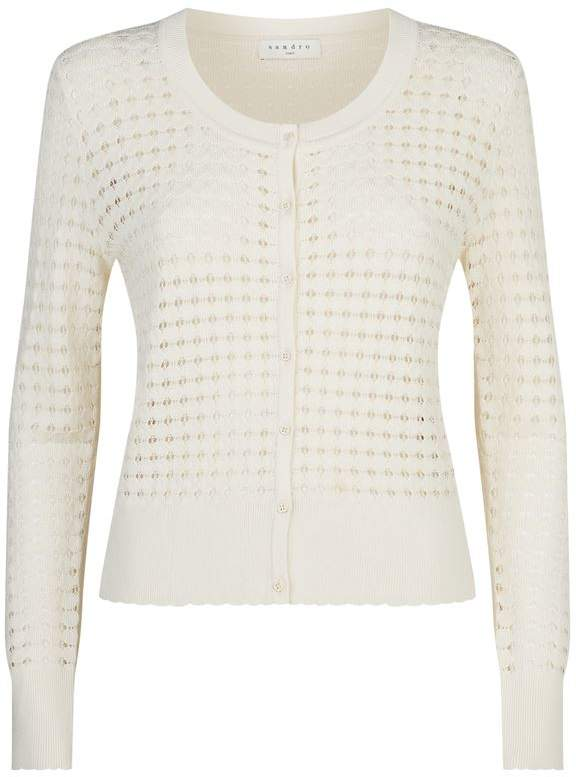 Sandro Knitted Cut-Out Cardigan