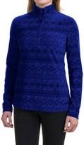 Eddie Bauer Nordic Microfleece Pullover Shirt - Zip Neck (For Women)