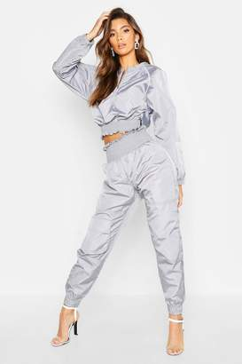 boohoo Shirred Shell Suit Trouser