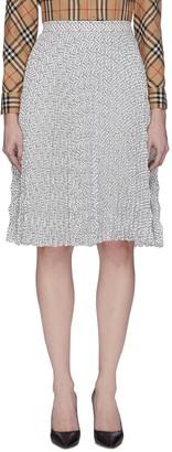 Burberry Monogram Print Pleat Skirt