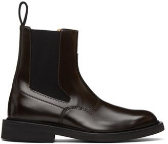 Bottega Veneta Brown Leather Chelsea Boots