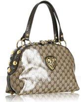 beige crystal GG 'Babouska'  studded top handle bag