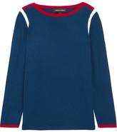 Vanessa Seward Desmond Color-block Merino Wool Sweater - Blue