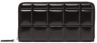 Bottega Veneta Padded Quilted-leather Continental Wallet - Womens - Black