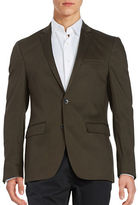 Laboratory Lt Man Textured Two-Button Jacket