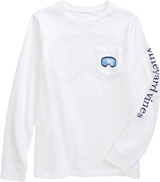Vineyard Vines Kid's Ski Goggles Pocket Graphic Tee