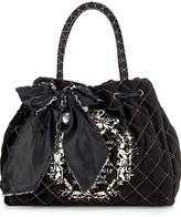 Large Quilted Velour Bag