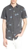 Globe Men's Paper Crane Print Shirt