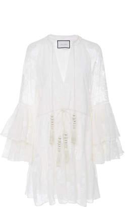 Alexis Floriane Ruffled Lace Mini Dress