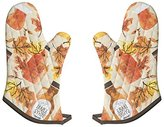 Now Designs Basic Oven Mitt, Maple Syrup Print, Set of 2