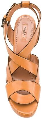 Alaïa Pre-Owned 2000's Cutout Wedge Sandals