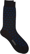 Barneys New York Men's Circle-Pattern Mid-Calf Socks-BLACK