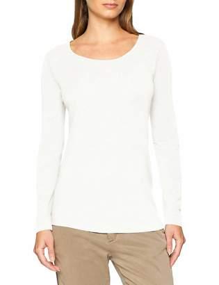 Eddie Bauer Women's's T-Shirt aus Pima Baumwolle - Hochwertiges Baumwollshirt mit Rundhalsausschnitt und Leicht gerundetem Saum Wei (Schneewei 023) M