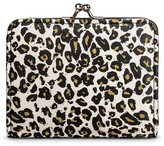 Mossimo Women's Leopard Print Kiss Lock Clasp Faux Leather Wallet White