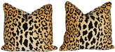 One Kings Lane Vintage Cheetah Print Pillows