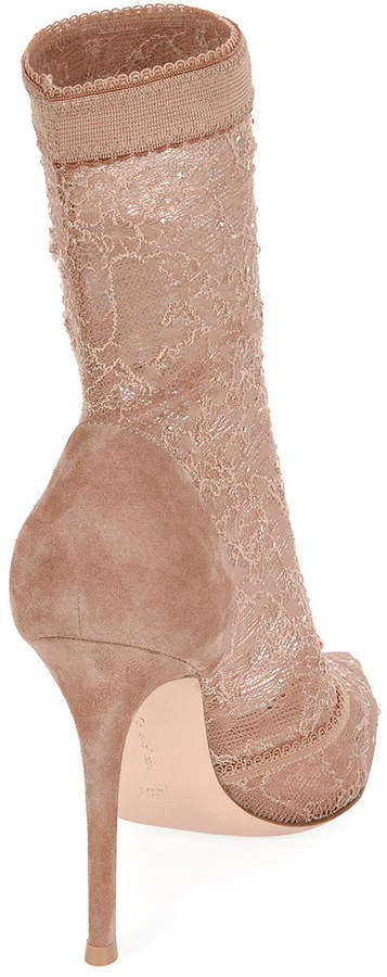 Gianvito Rossi Stretch-lace ankle boot
