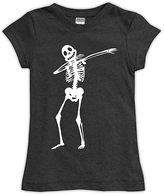Urban Smalls Charcoal Dabbing Skeleton Fitted Tee - Toddler & Girls