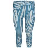 Roberto Cavalli Roberto CavalliGirls Blue Zebra Print Leggings