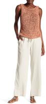 Susina Linen Blend Drawstring Pant