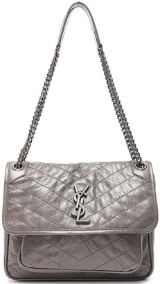 Saint Laurent Medium Niki Monogramme Chain Bag in Fog | FWRD