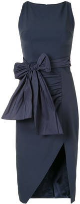 Elisabetta Franchi Bow And Slit Pencil Dress