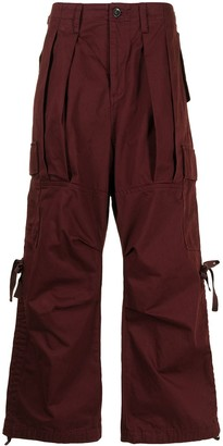Undercover Pleated Cotton Cargo Trousers