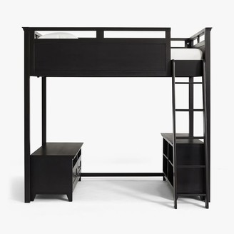 Pottery Barn Teen Hampton Loft Bed with Media & Bookcase Set