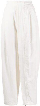 Stella McCartney Zipped-Layer Wide Leg Trousers