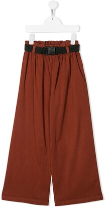 Andorine Loose-Fit Flared Trousers