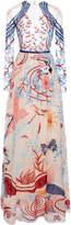 Zuhair Murad Pale Dogwood Fresque Embellished Silk Dress