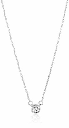 Amazon Collection IGI Certified Lab Grown Diamond Bezel-Set Necklace in 14k Yellow Gold (1.50 CT.TW. I-J Color SI1-SI2 Clarity)