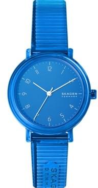 Skagen Women's Aaren Transparent Three-Hand Blue Watch 36mm