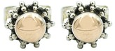 Exex Design Jewelry Sterling Silver & 18K Yellow Gold Plated Saitama Stud Earrings