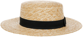 Straw Boater Black Summer Hats