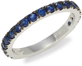 Effy 14K White Gold Sapphire Band Ring