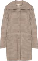Isolde Roth Plus Size Drawstring waist ribbed knit cardigan