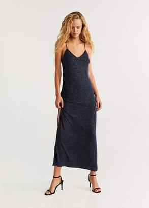 MANGO Glitter long dress