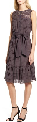 Anne Klein Eyelet Fit & Flare Dress